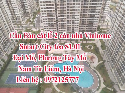 Cần Bán cắt lỗ 2 căn nhà Vinhome Smart City tòa S1.01 Dự án Vinhomes Smart City Đại Mỗ, Phường Tây Mỗ, Nam Từ Liêm, Hà Nội. - Ảnh chính