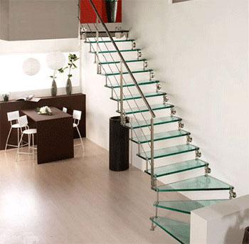 cầu thang cho nhà chật hẹp