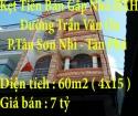 Kẹt Tiền Bán Gấp Nhà HXH 63/17 đường Trần Văn Ơn, Phường Tân Sơn Nhì, Tân Phú, Hồ Chí Minh