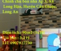 Chính chủ bán nhà Ấp 3, Xã Long Hậu, Huyện Cần Giuộc, Long An