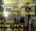 Chính chủ cần bán gấp căn hộ 2 phòng ngủ ở phường Trường Thọ, quận thủ Đức , Tp Hcm.