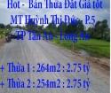 Hot - Bán Thửa đất Giá tốt, Giá rẻ Tháng 9/2021 Long An - Mặt tiền Huỳnh Thị Đức, P.5,