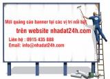 Mời quảng cáo banner trên trang nhadat24h.com