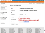 Cách chuyển tin thường thành tin VIP trong danh sách tin đăng rao vặt trang nhadat24h.com
