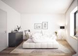 Trang trí phòng ngủ ấn tượng với màu đen-trắng