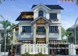 Mẫu biệt thự 3 tầng mái Thái mang phong cách hiện đại