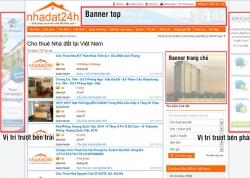 Báo giá quảng cáo Baner trên trang nhadat24h.com
