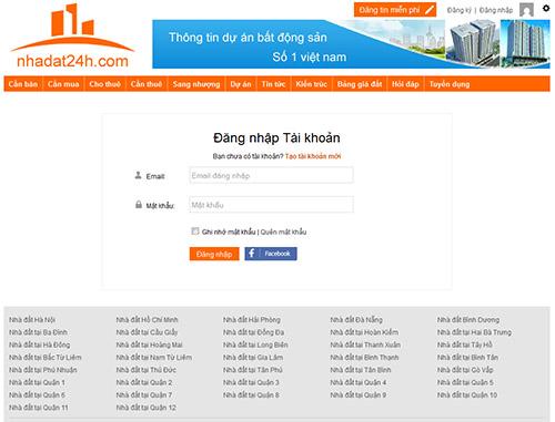 huong dan su dung website