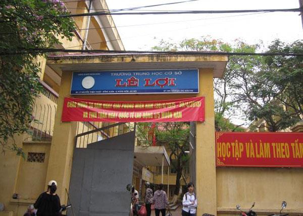 Trường THCS Lê Lợi Hoàn Kiếm